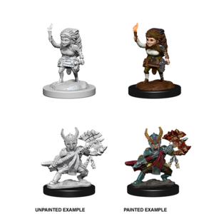 WizKids D&D Nolzur's Marvelous Miniatures: Halfling Female Fighter (W6)