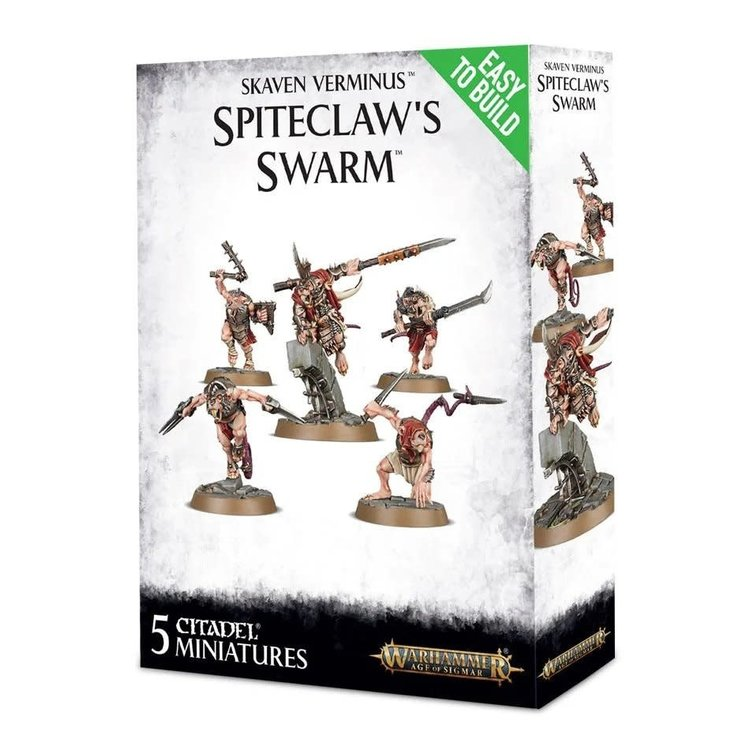 Games Workshop Warhammer Age of Sigmar: Skaven Verminus: Spiteclaw's Swarm