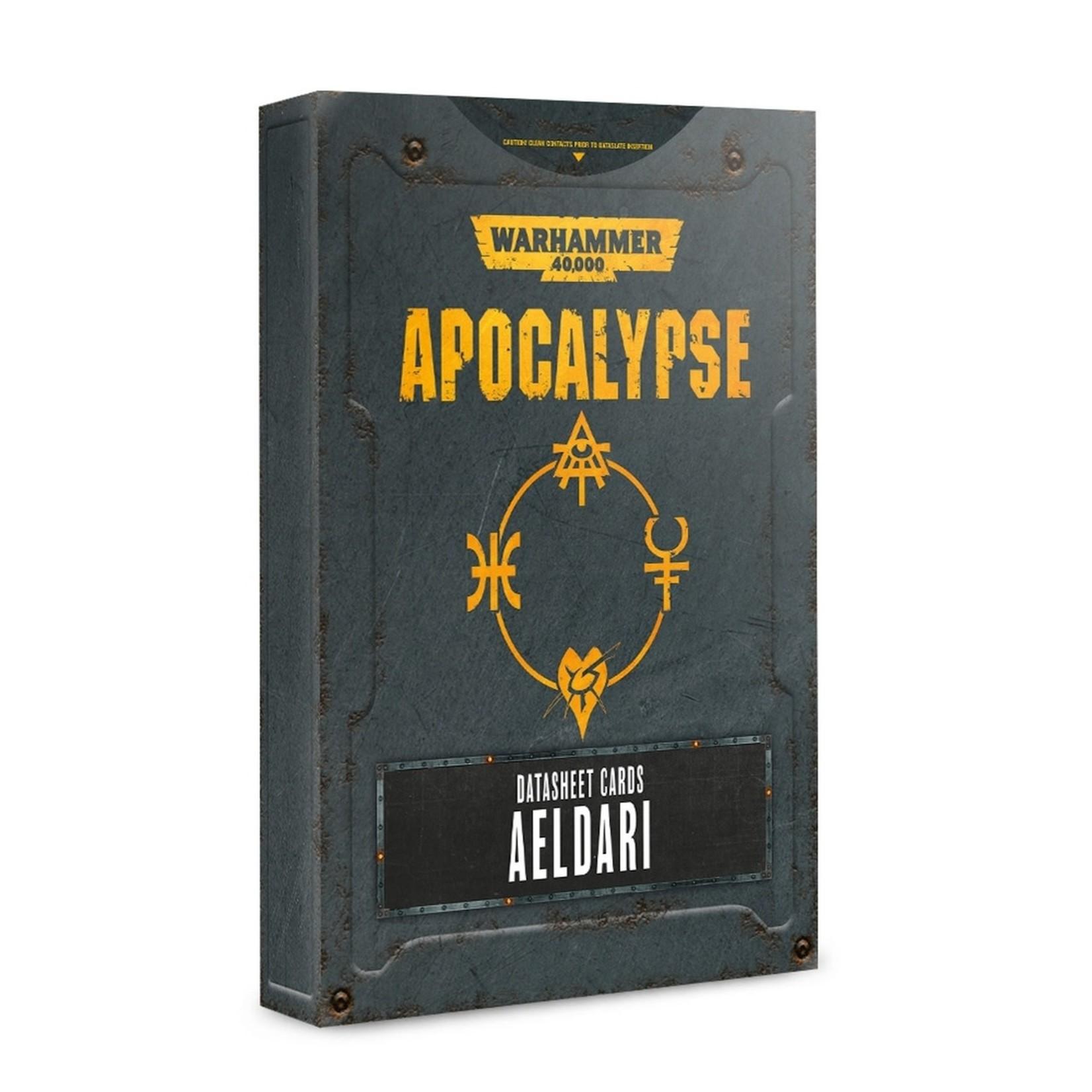 Games Workshop Warhammer 40k Apocalypse: Datasheet Cards Aeldari