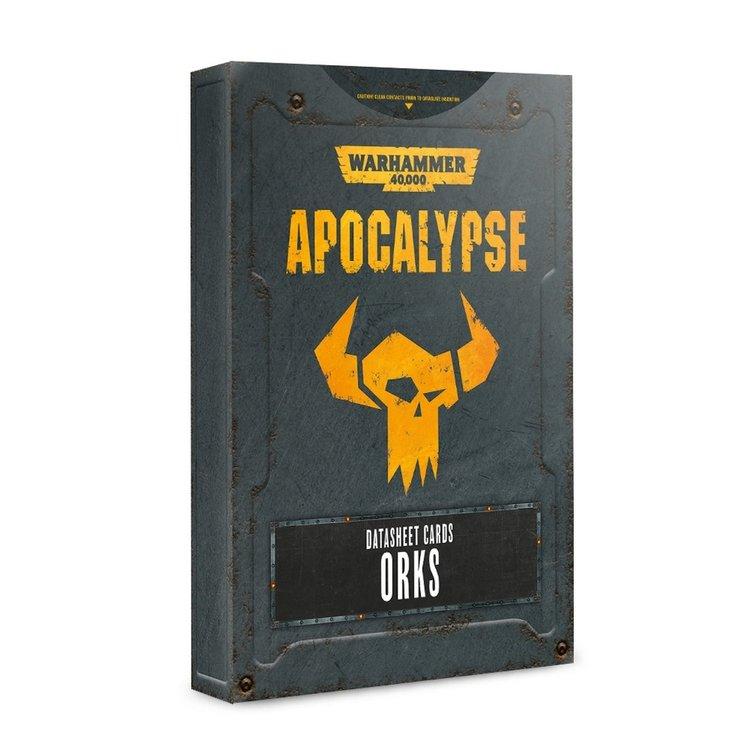 Games Workshop Warhammer 40k Apocalypse: Datasheet Cards Orks