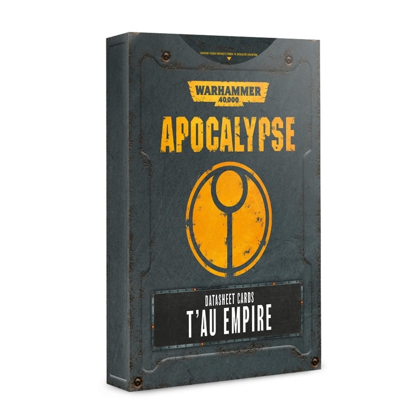 Games Workshop Warhammer 40k Apocalypse: Datasheet Cards T'au Empire