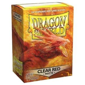 Arcane Tinman Dragon Shield: Card Sleeves - Matte Clear Red (100)