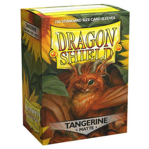 Arcane Tinman Dragon Shield: Card Sleeves - Matte Tangerine(100)