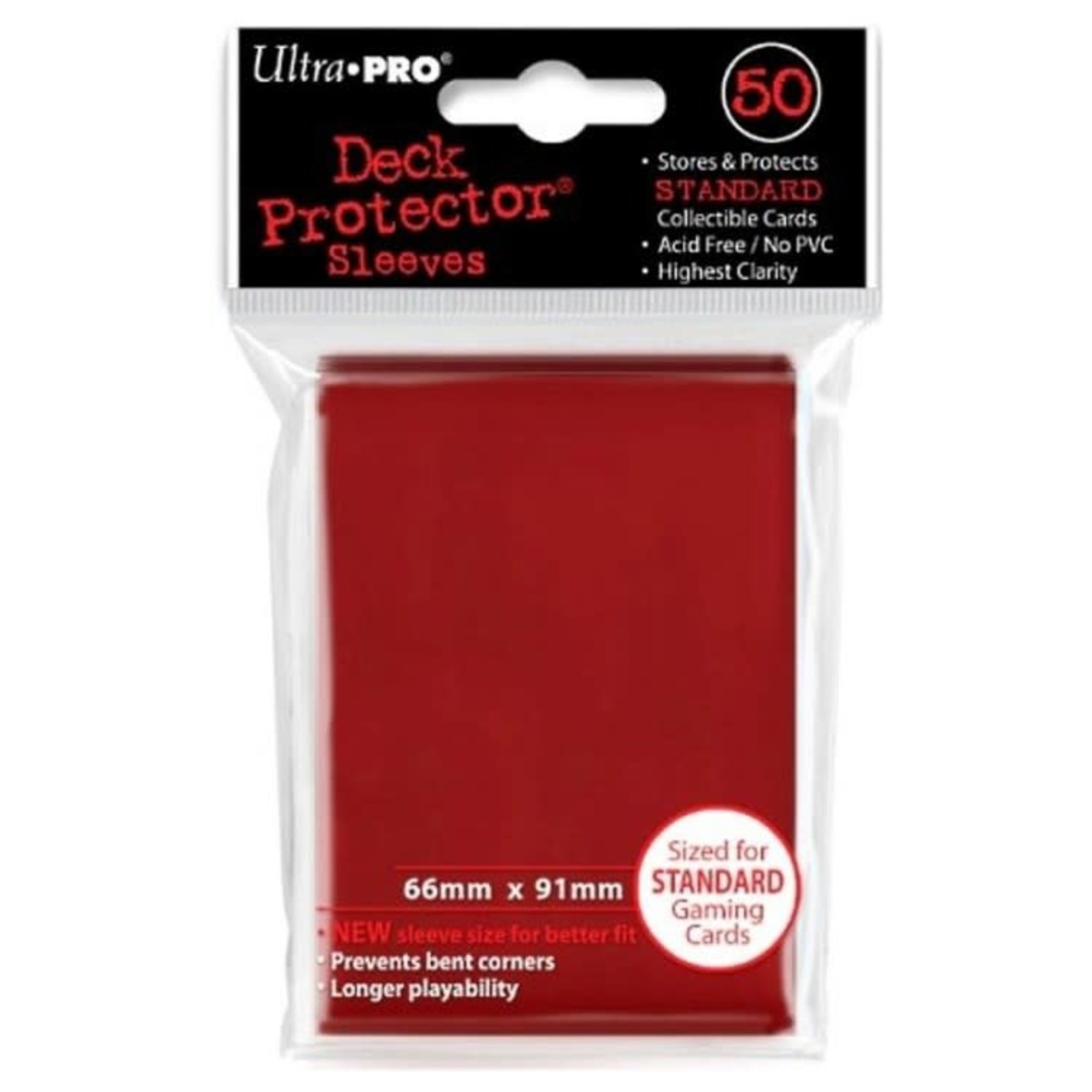 Ultra Pro Ultra Pro Card Sleeves: Red (50)