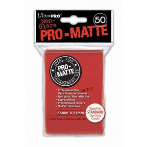 Ultra Pro Ultra Pro: Card Sleeves - Matte Red (50)