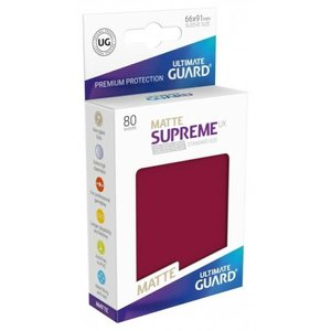 Ultimate Guard Ultimate Guard: Card Sleeves - Burgundy Matte (80)
