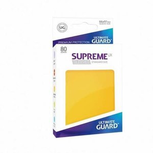 Ultimate Guard Ultimate Guard: Card Sleeves - Yellow Matte  (80)