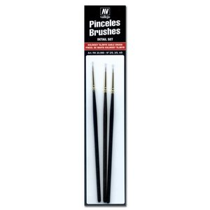 Vallejo Vallejo Brush Set: Detail Set KT (4/0,3/0,2/0)