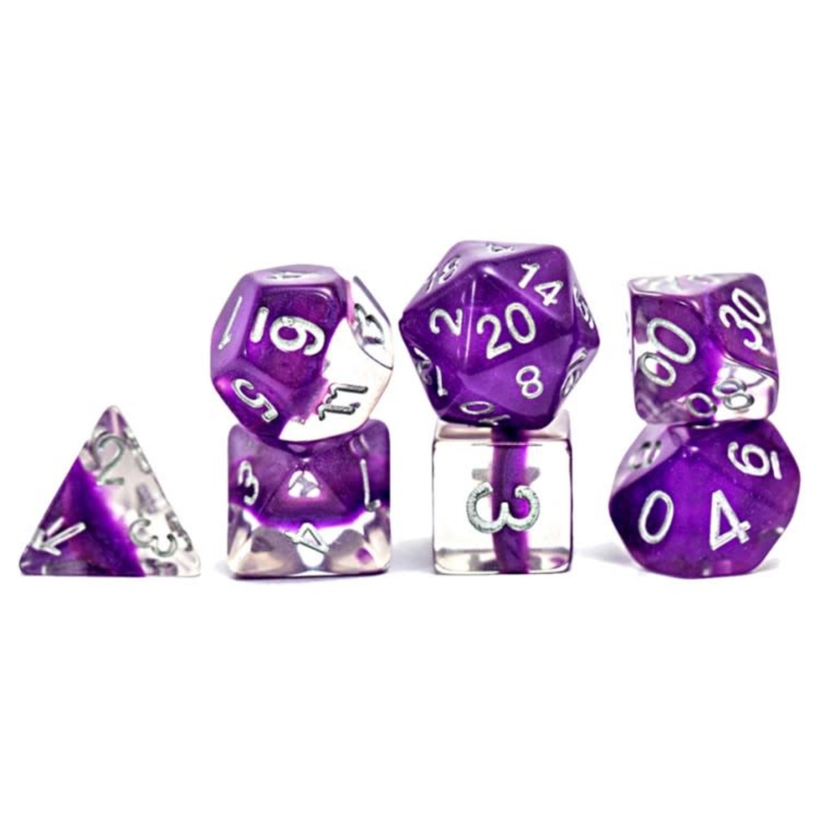 GateKeeper Gate Keepers Dice: Polyhedral Dice Set - Neutron: Violet