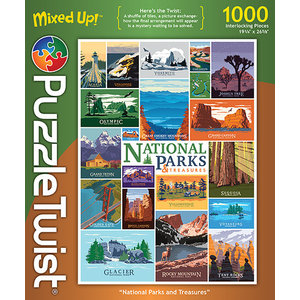 Puzzle Twist Puzzle Twist - 1000 Piece Puzzle: National Parks and Treasures