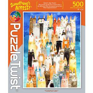 Puzzle Twist Puzzle Twist - 500 Piece Puzzle: Colorful Cats
