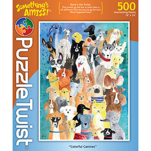 Puzzle Twist Puzzle Twist - 500 Piece Puzzle: Colorful Canines
