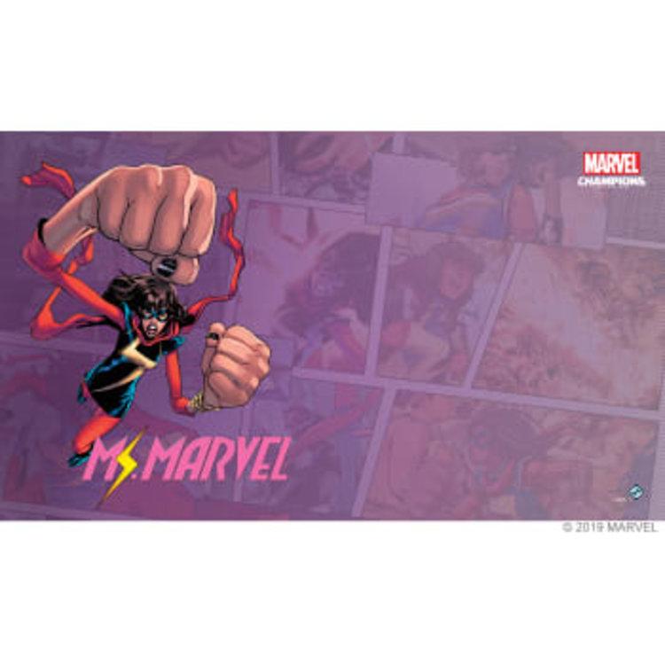 Fantasy Flight Games Marvel Champions Living Card Game: Ms. Marvel Game Mat