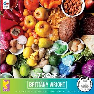 ceaco Ceaco - 750 Piece Puzzle: Brittany Wright - Food Medley