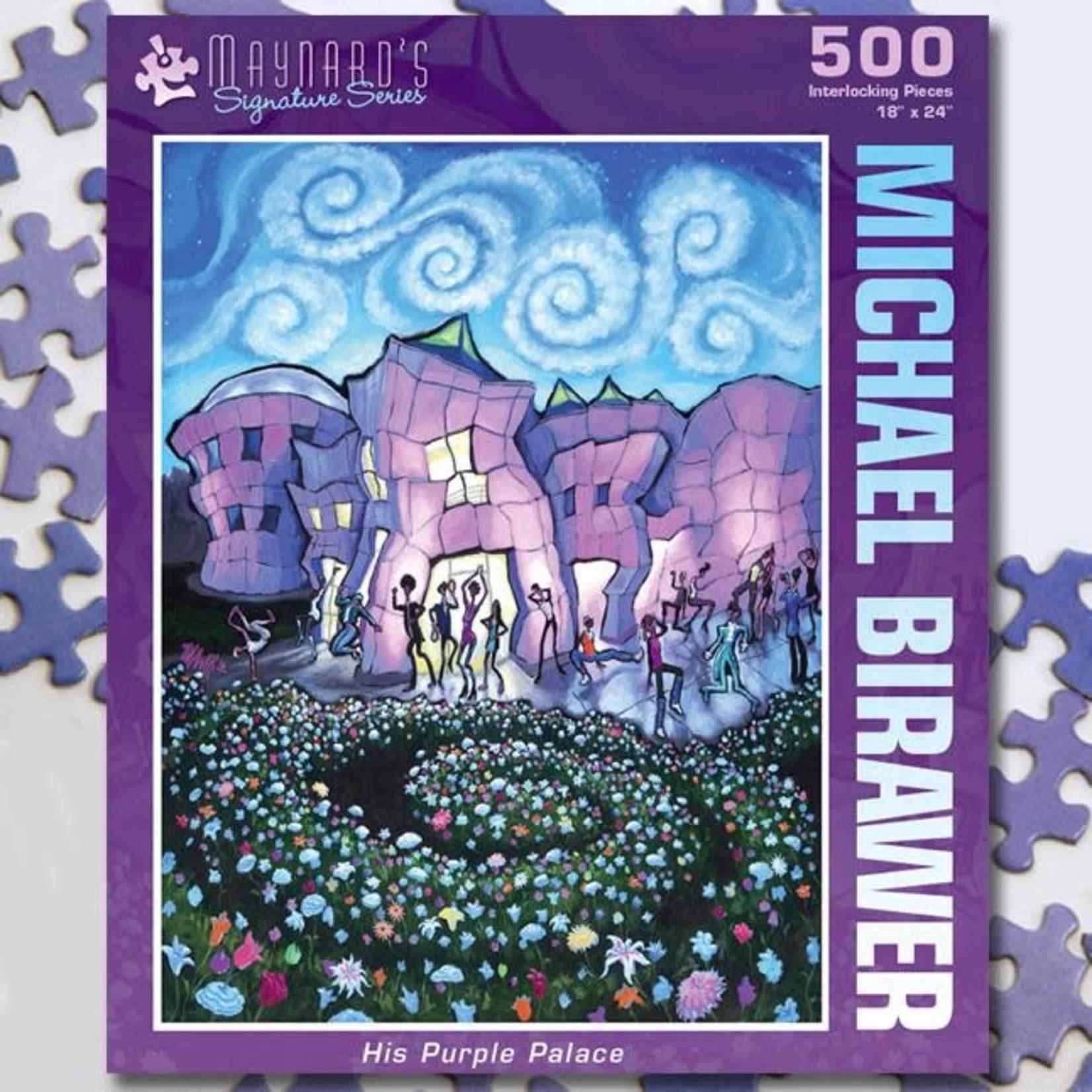 Puzzle Twist Maynard's Signature Series - 500 Piece Puzzle: His Purple Palace