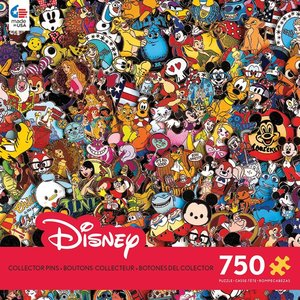 ceaco Ceaco - 750 Piece Puzzle: Disney Collection - Collector Pins