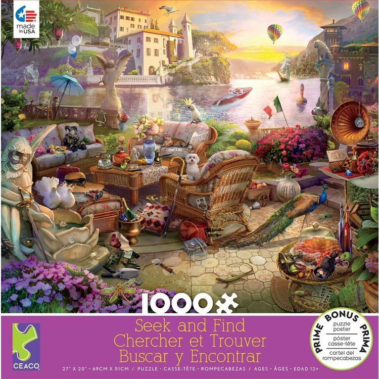 ceaco Ceaco - 1000 Piece Puzzle: Seek and Find - Italian Terrace