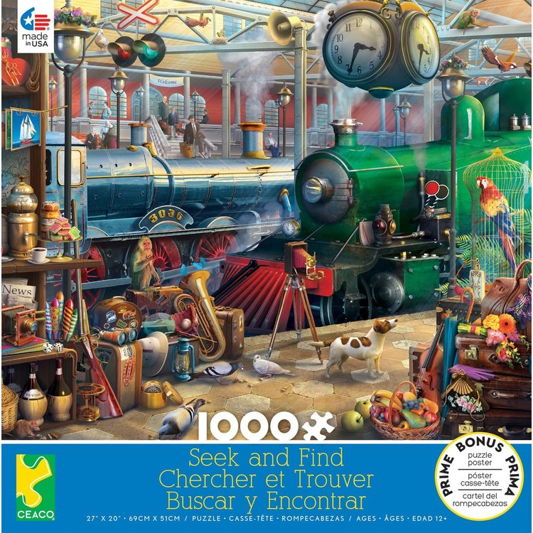 ceaco Ceaco - 1000 Piece Puzzle: Seek and Find - Train Station