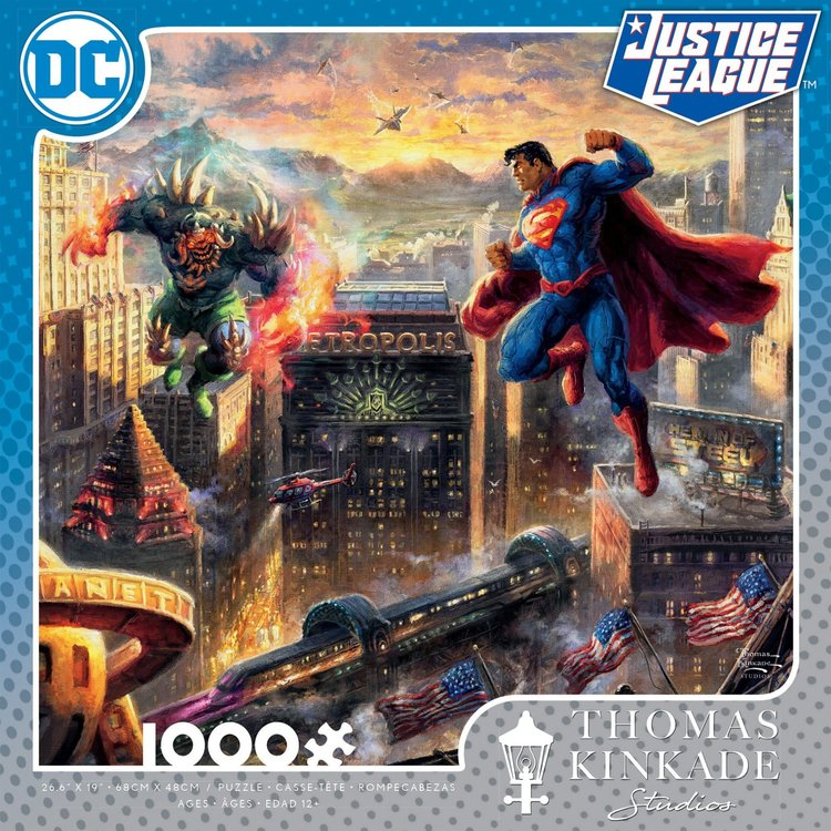 ceaco Ceaco - 1000 Piece Puzzle: Thomas Kinkade - Superman: Man of Steel