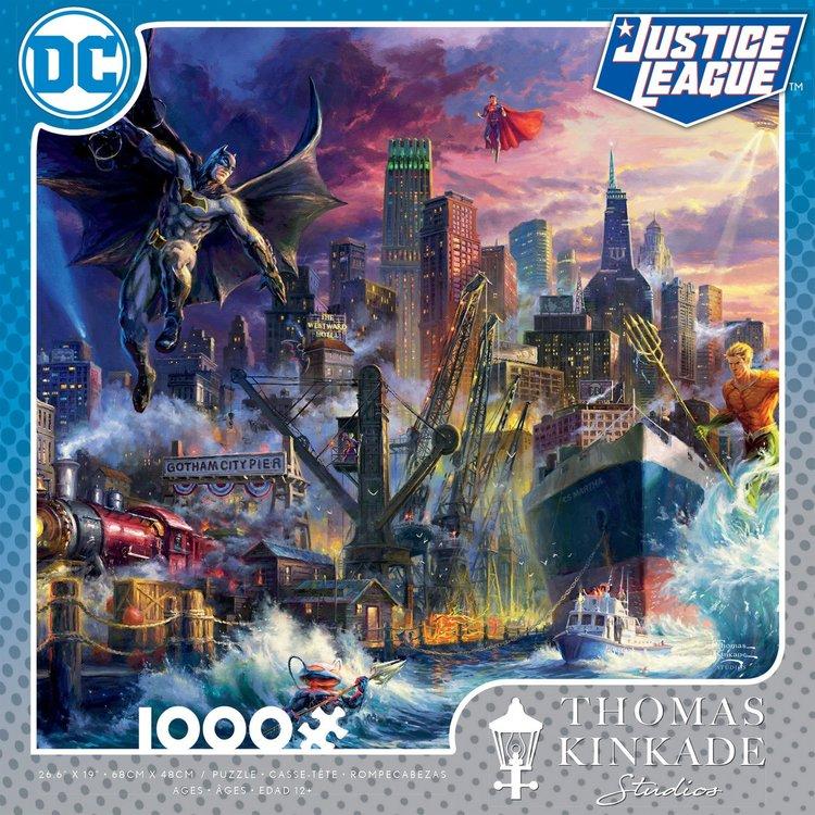 ceaco Ceaco - 1000 Piece Puzzle: Thomas Kinkade - Showdown at Gotham Pier