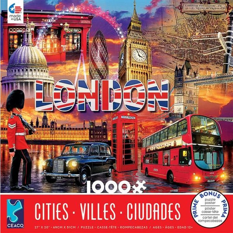ceaco Ceaco - 1000 Piece Puzzle: Cities - London