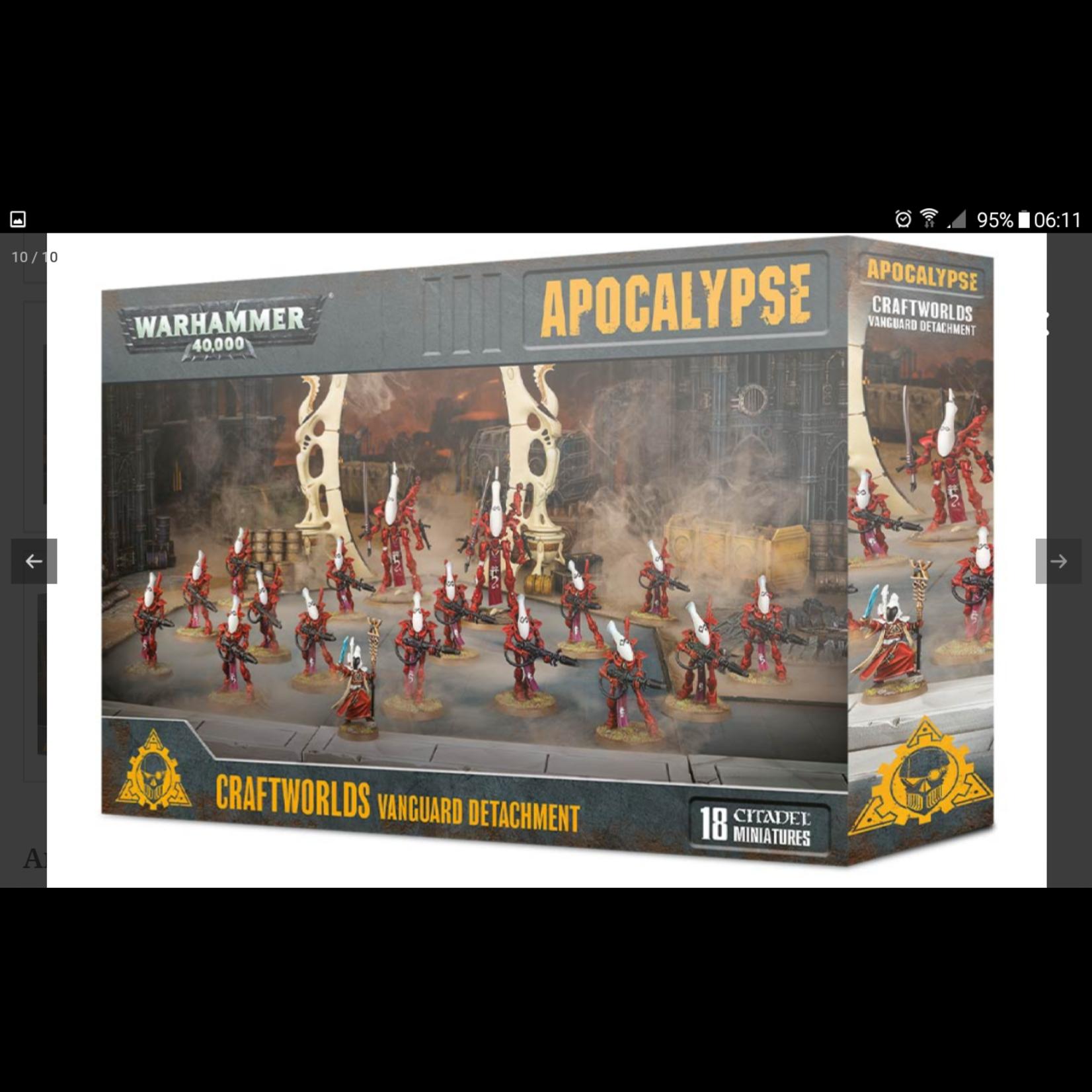 Games Workshop Warhammer 40k Apocalypse: Craftworlds - Vanguard Detachment