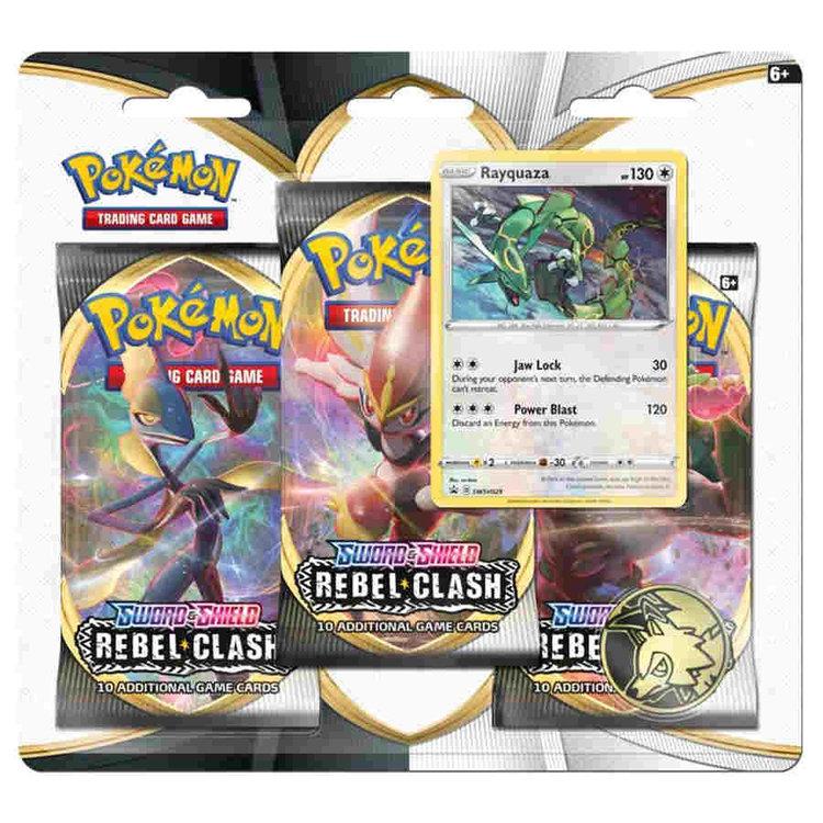 Pokemon International Pokemon Trading Card Game: Sword & Shield Rebel Clash 3-Booster Blister