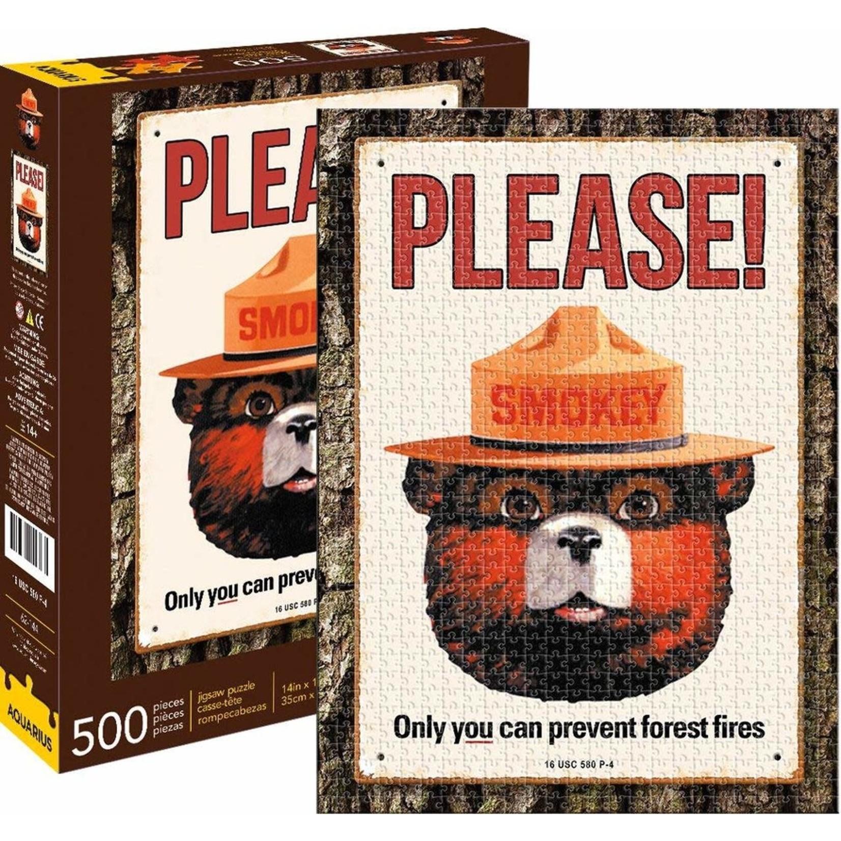 Aquarius Aquarius Puzzle: Smokey the Bear - 500 pc Puzzle