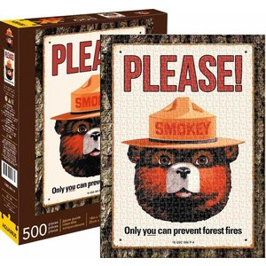 Aquarius Aquarius Puzzle: Smokey the Bear - 500 pc Puzzle