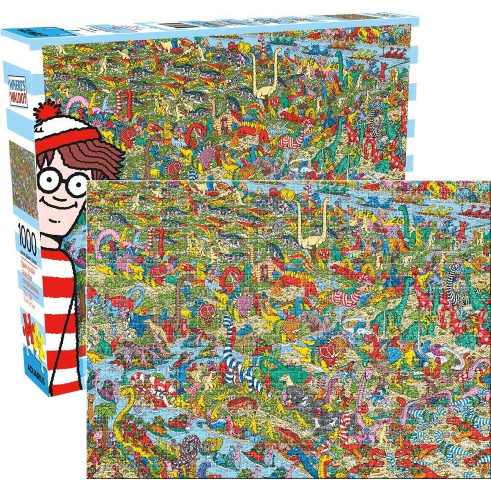 Aquarius Aquarius Puzzle: Where's Waldo Dinosaur - 1000pc Puzzle