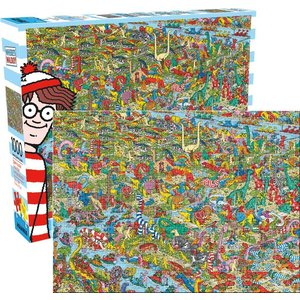 Aquarius Aquarius Puzzle: Where's Waldo Dinosaur - 1000pc Puzzle