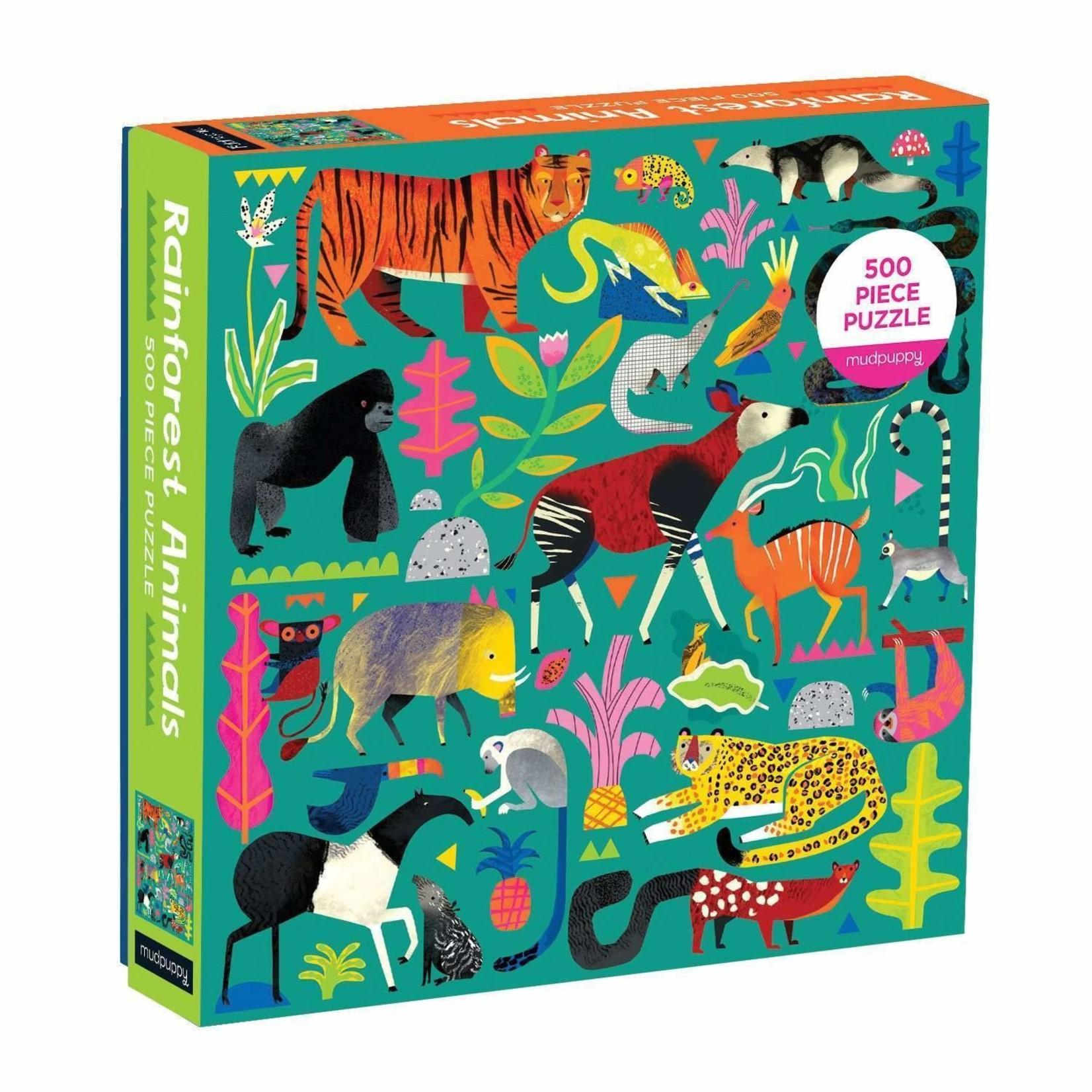 Mudpuppy Mudpuppy - 500 Piece Puzzle: Rainforest Animals