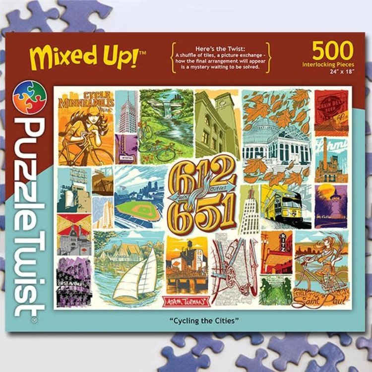 Puzzle Twist Puzzle Twist - 500 Piece Puzzle: Cycling the Cities