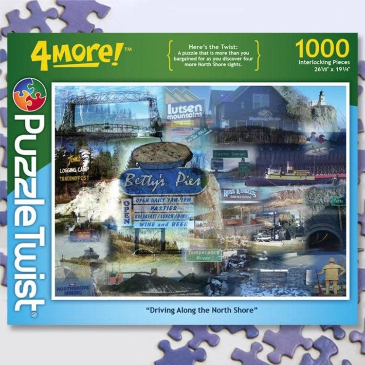 Puzzle Twist Puzzle Twist - 1000 Piece Puzzle: Driving Along the North Shore