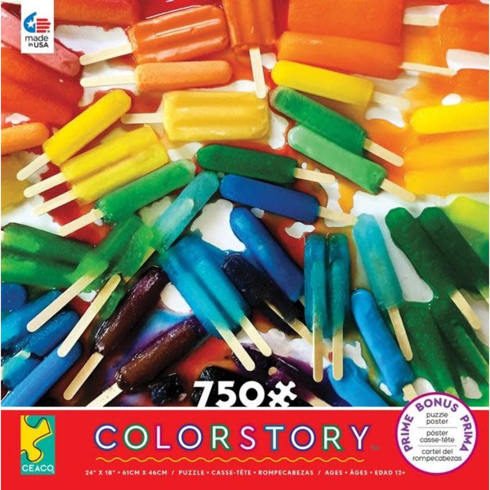 ceaco Ceaco - 750 Piece Puzzle: Color Story - Popsicles
