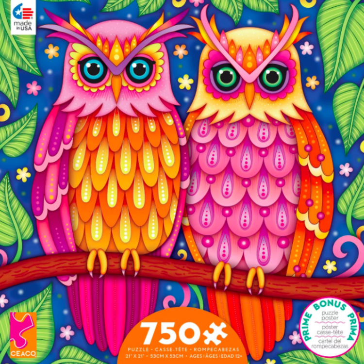ceaco Ceaco - 750 Piece Puzzle: Groovy Animals - Owls