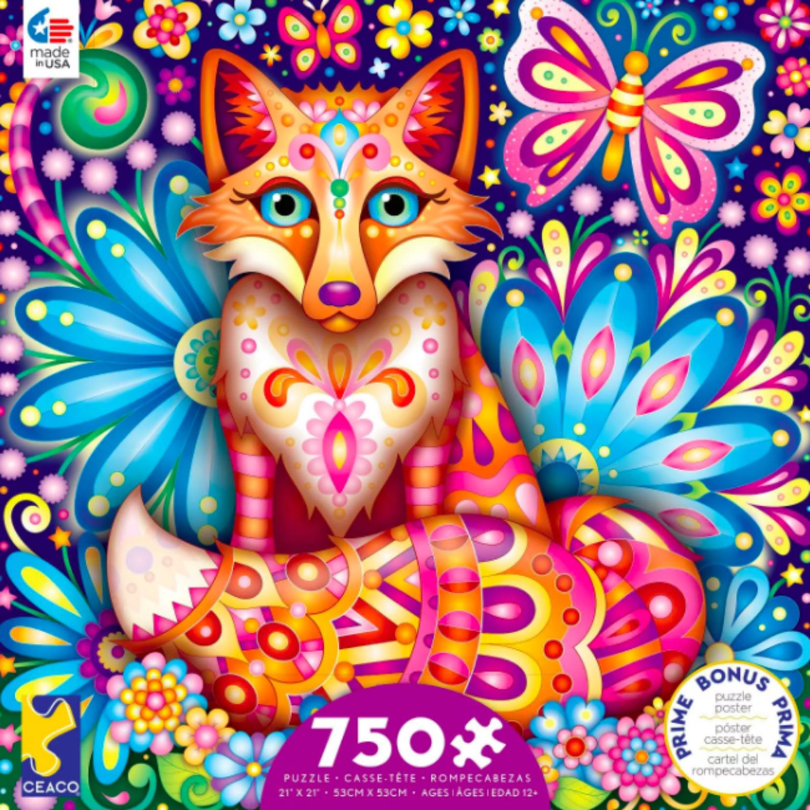 ceaco Ceaco - 750 Piece Puzzle: Groovy Animals - Fox