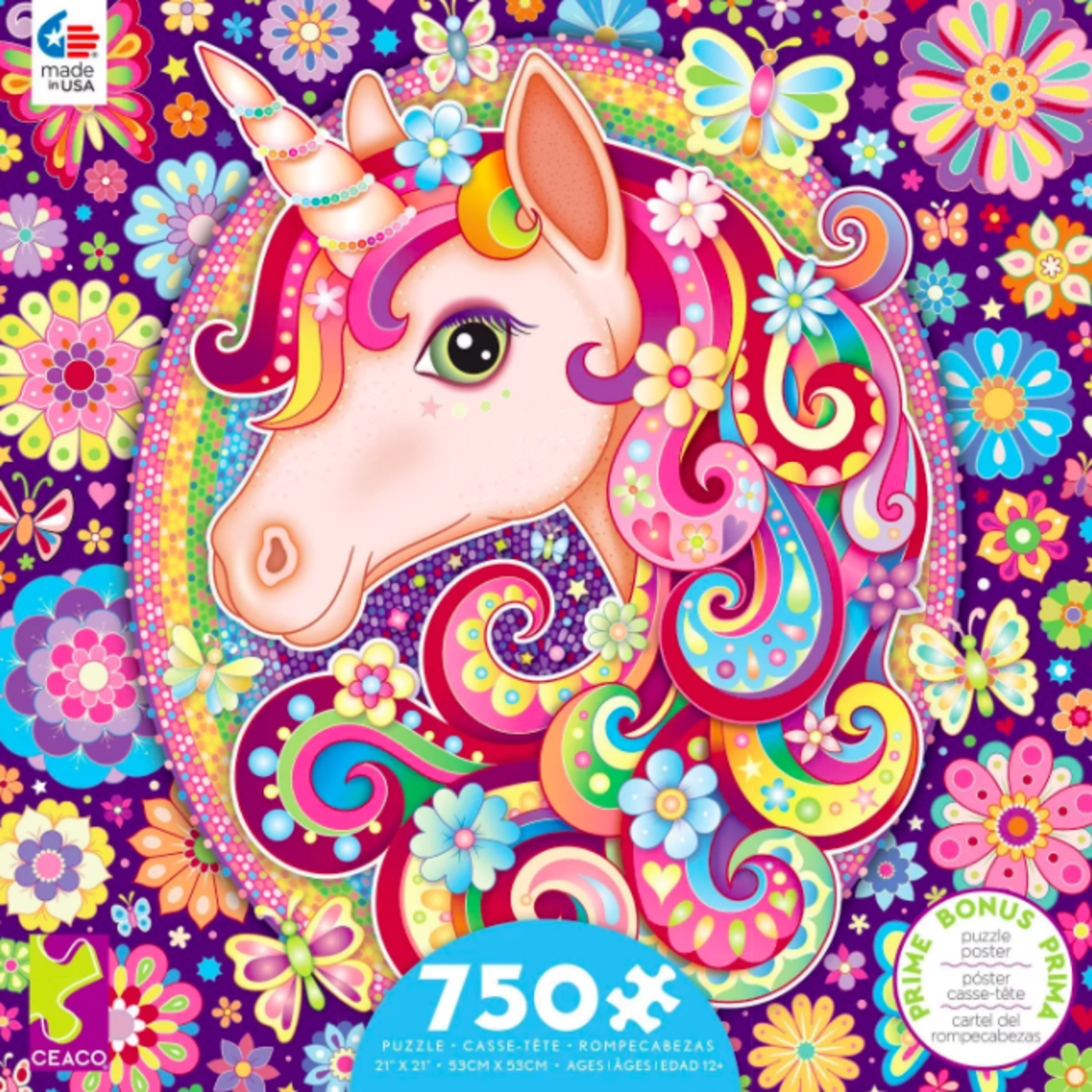 ceaco Ceaco - 750 Piece Puzzle: Groovy Animals - Unicorn