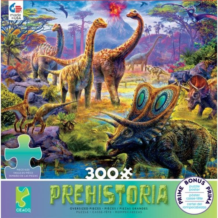 ceaco Ceaco - 300 Piece Puzzle: Prehistoria - Sauropods