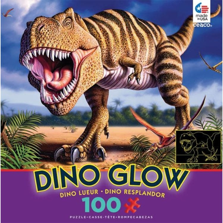 ceaco Ceaco - 100 Piece Puzzle: Glow in the Dark - T-Rex