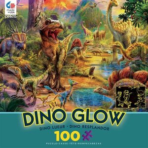 ceaco Ceaco - 100 Piece Puzzle: Glow in the Dark - Dino Landscape