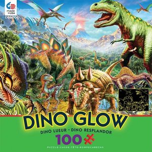 ceaco Ceaco - 100 Piece Puzzle: Glow in the Dark - Dino Party