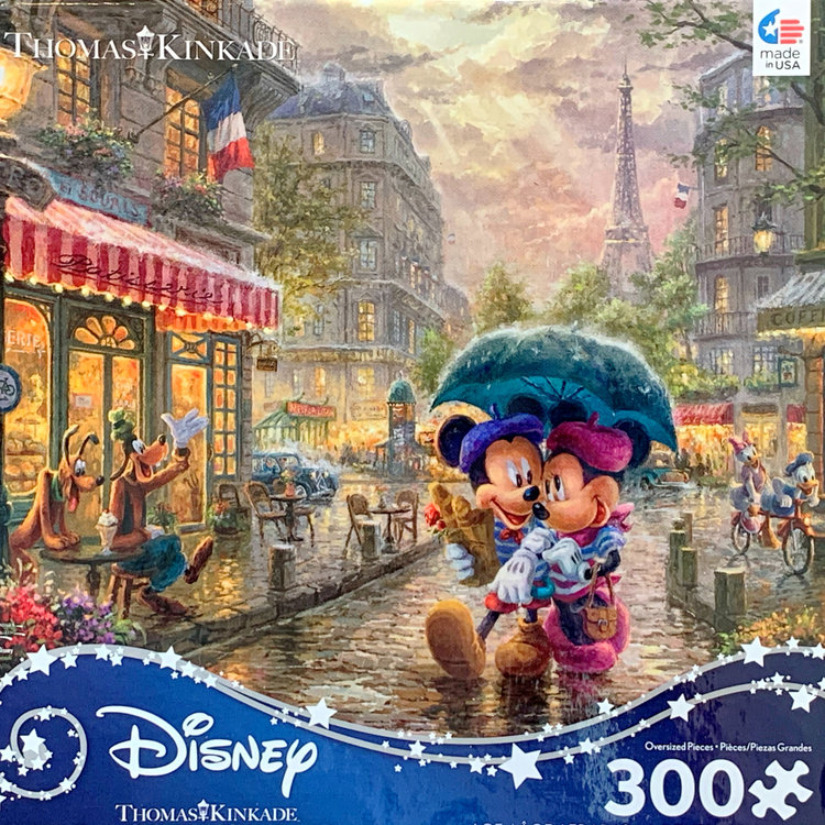 ceaco Ceaco - 300 Piece Puzzle (Oversized Pieces): Disney Collection - Mickey and Minnie in Paris