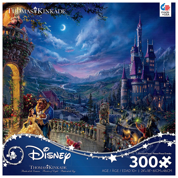 ceaco Ceaco - 300 Piece Puzzle (Oversized Pieces): Disney Collection - Beauty and the Beast Dancing in the Moonlight