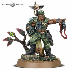 Games Workshop Warhammer 40k: Astra Militarum: Catachan Colonel  (Exclusive)