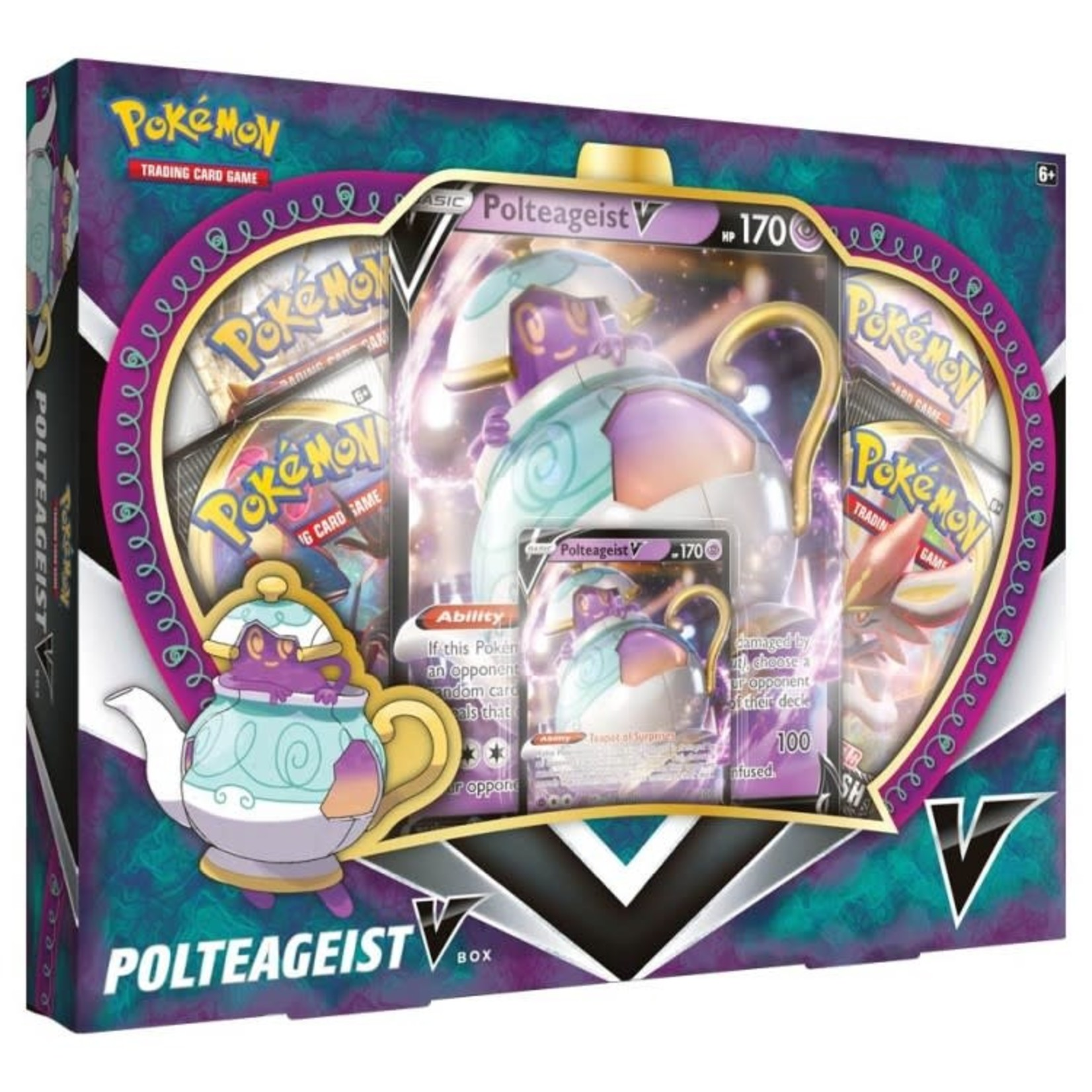 Pokemon International Pokemon Polteageist V Box