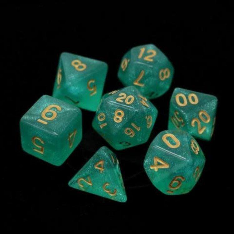 Die Hard Dice Die Hard Dice: Polyhedral Dice Set - Haruko w/Gold