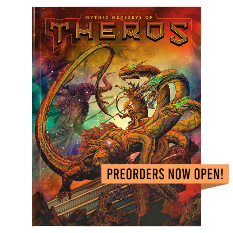 Wizards of the Coast PREORDER - Dungeons and Dragons Fifth Edition: Mythic Odysseys of Theros (Limited Cover)