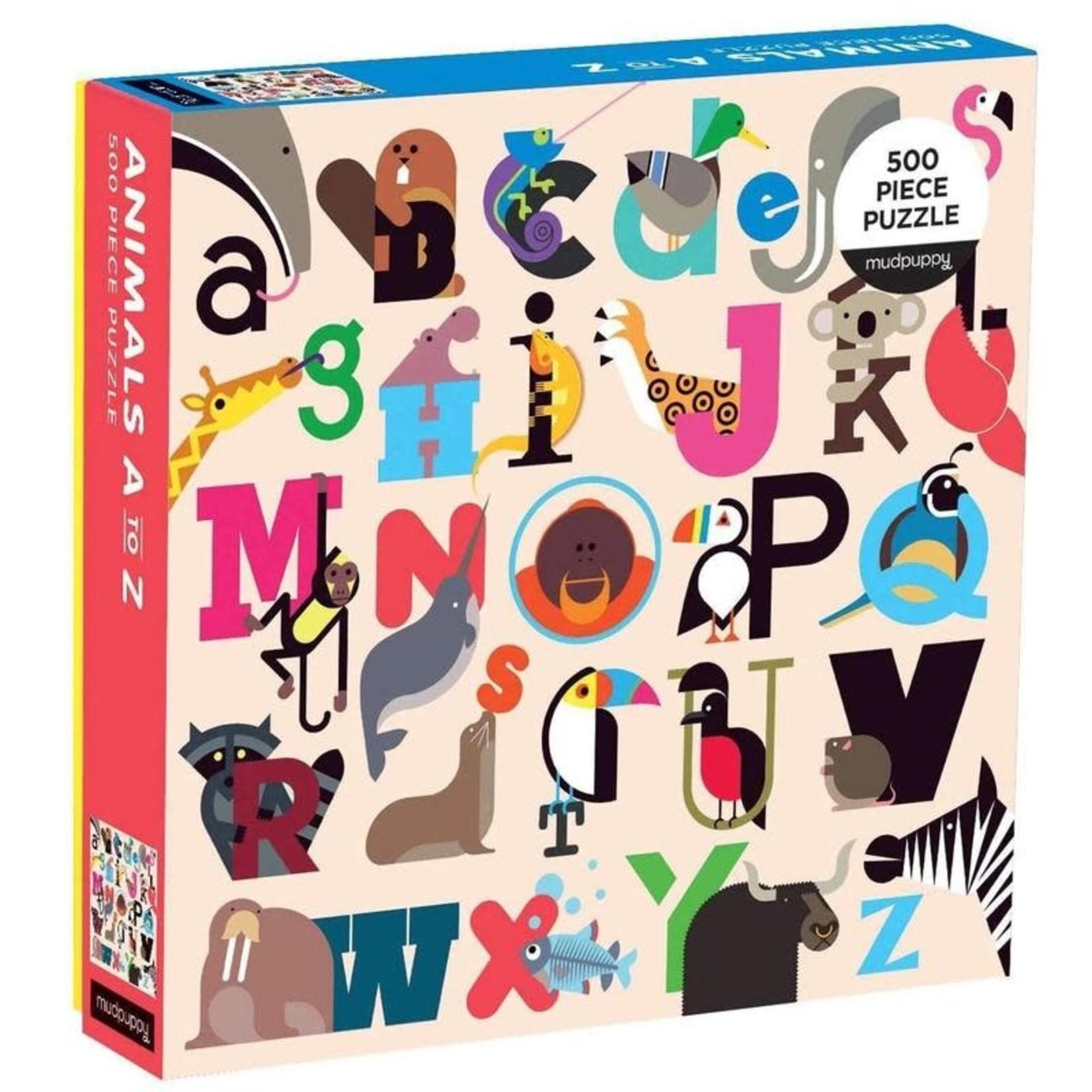 Mudpuppy Mudpuppy - 500 Piece Puzzle: Animals A-Z