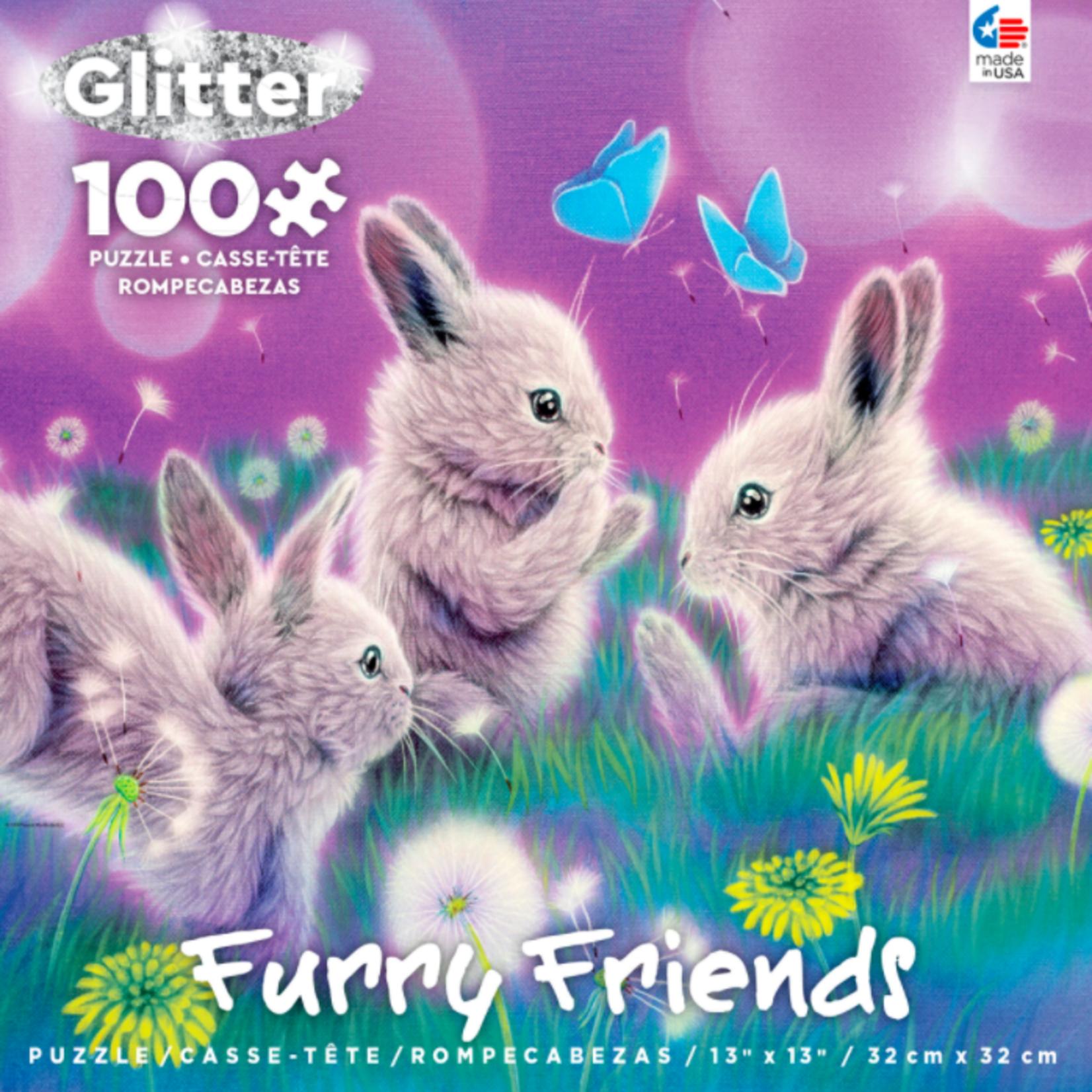 ceaco Ceaco - 100 Piece Puzzle: Glitter Furry Friends - Spring Has Sprung